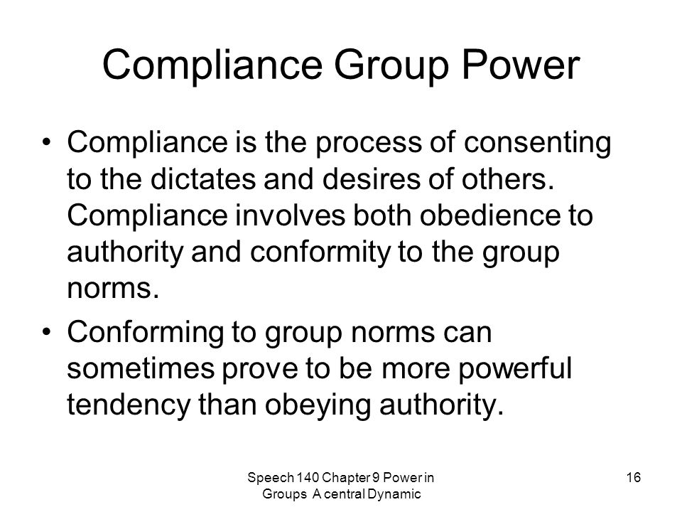 Compliance Group Power