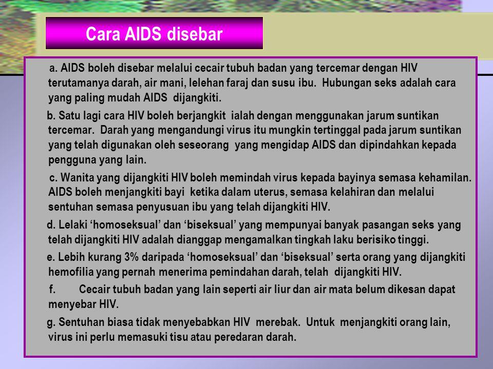 Cara AIDS disebar