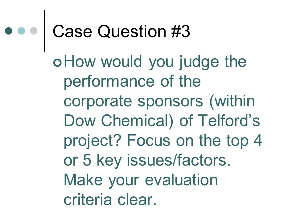 Case Question #3
