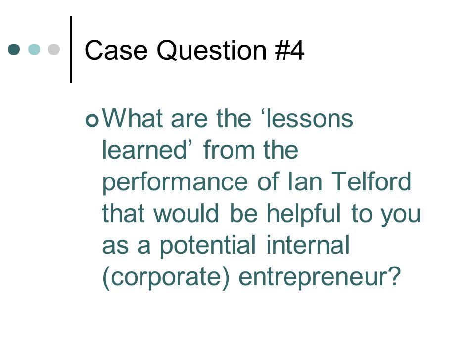 Case Question #4