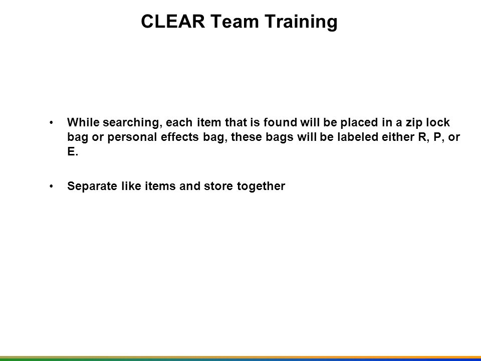 CLEAR Team Training