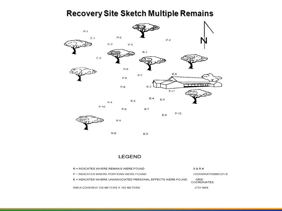 Recovery Site Sketch Multiple Remains