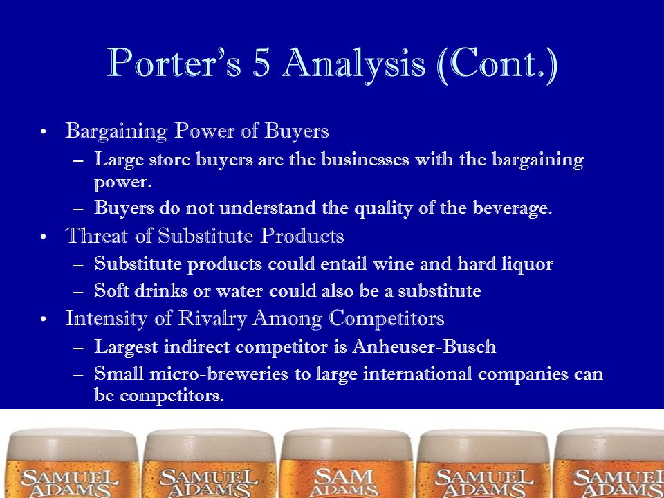 Porter's 5 Analysis (Cont.)