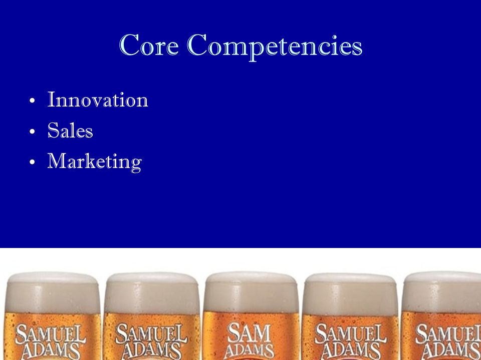 Core Competencies Innovation Sales Marketing