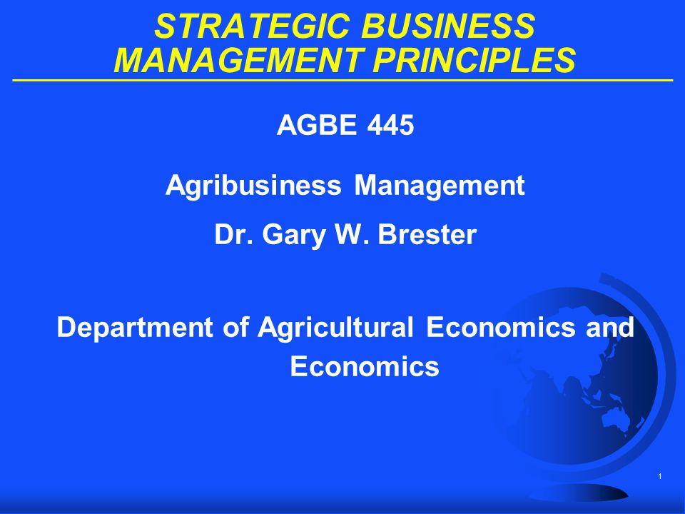 STRATEGIC BUSINESS MANAGEMENT PRINCIPLES