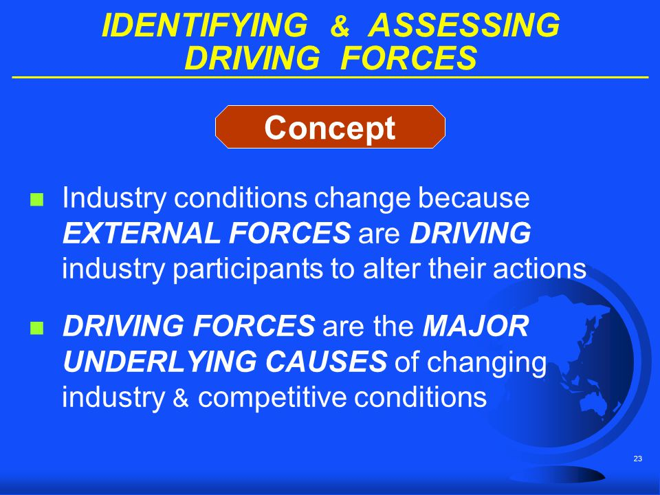 IDENTIFYING & ASSESSING DRIVING FORCES