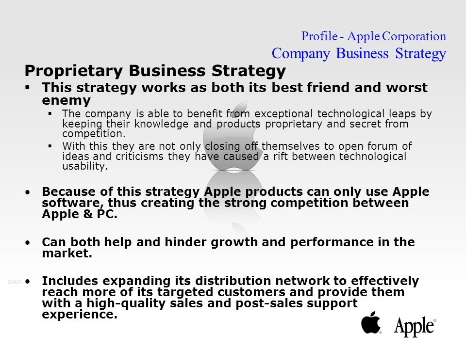 Profile - Apple Corporation Company Business Strategy