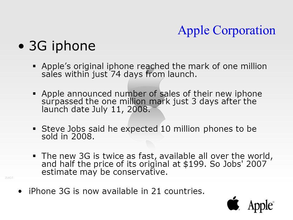 3G iphone Apple Corporation