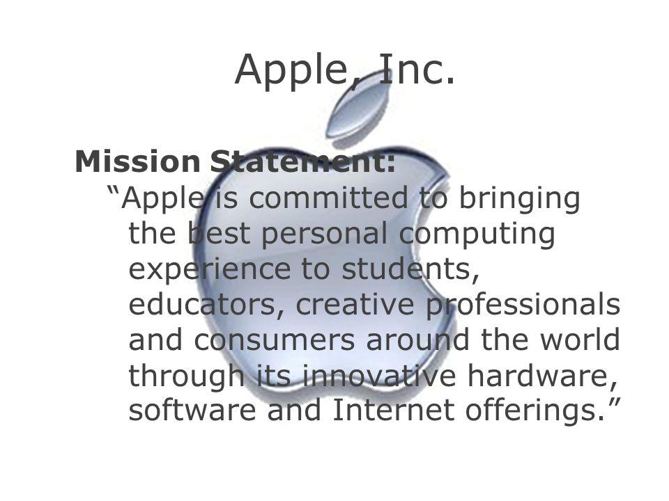 Apple, Inc. Mission Statement:
