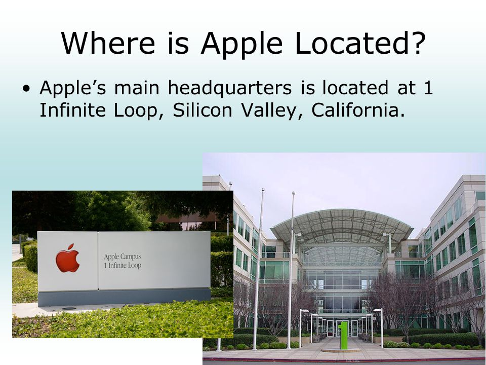 Where is Apple Located.