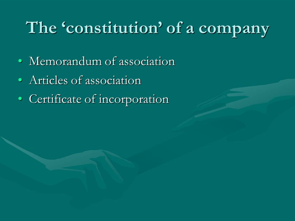 The 'constitution' of a company