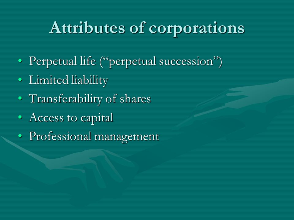 Attributes of corporations