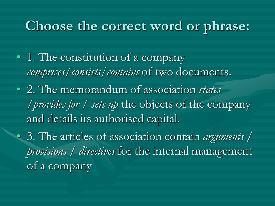 Choose the correct word or phrase: