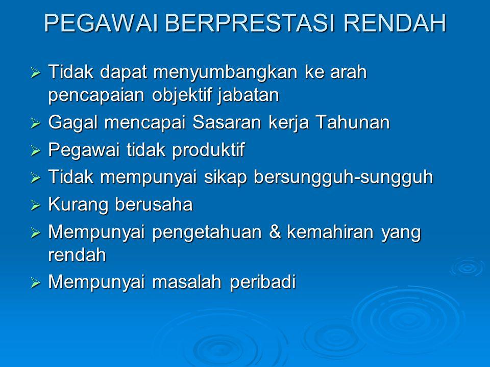 PEGAWAI BERPRESTASI RENDAH