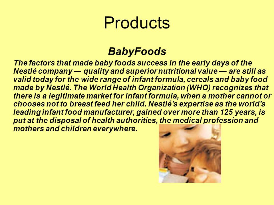 Products BabyFoods.