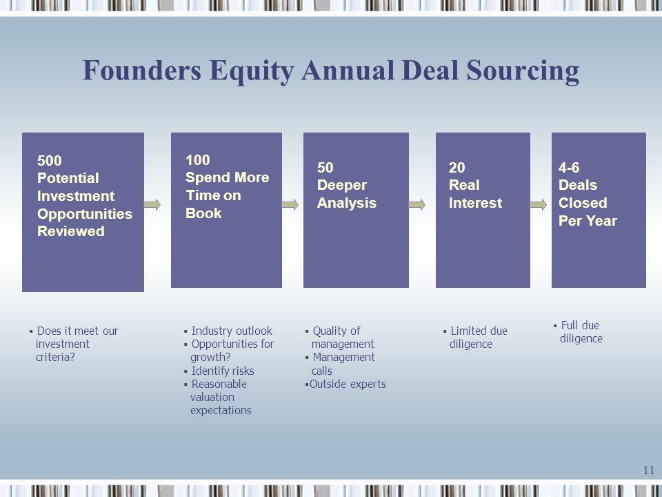 private equity investment criteria pdf