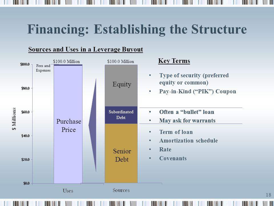 Financing: Establishing the Structure