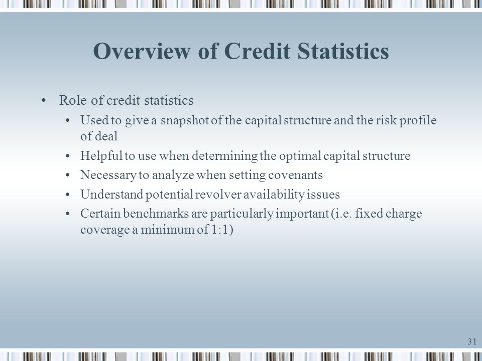 Overview of Credit Statistics