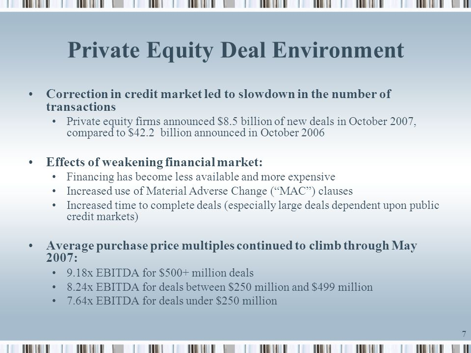 Private Equity Deal Environment