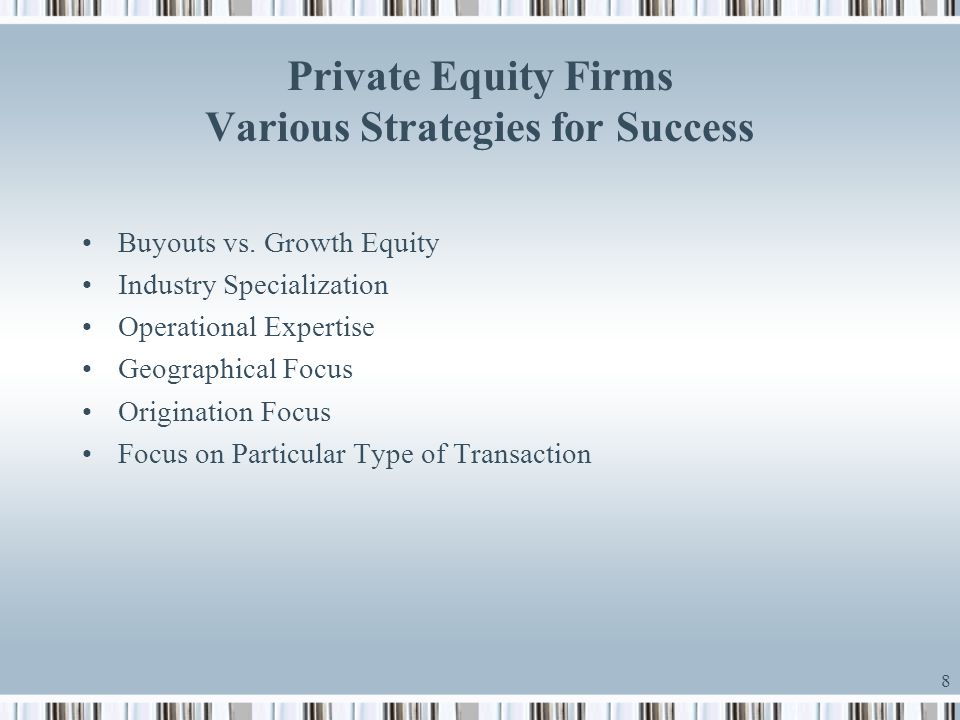Private Equity Firms Various Strategies for Success