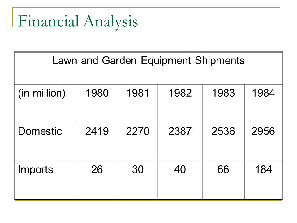 Lawn and Garden Equipment Shipments