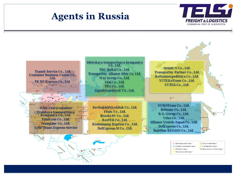 Agents in Russia Container Business Center Co., Ltd.