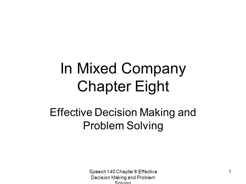 In Mixed Company Chapter Eight