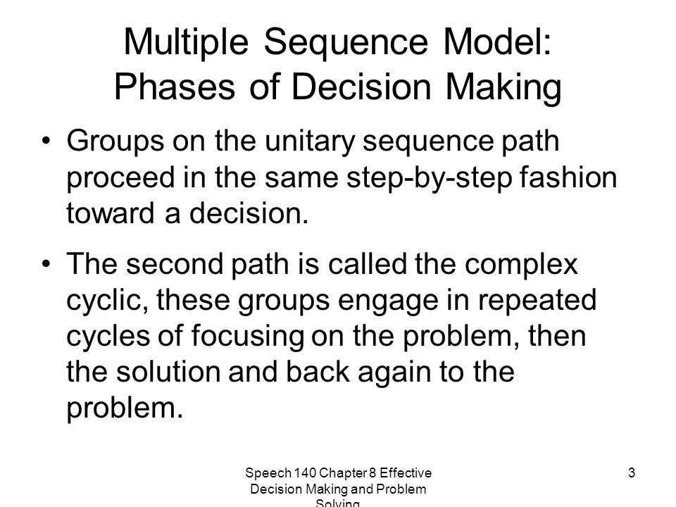 Multiple Sequence Model: Phases of Decision Making