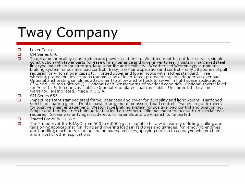 Tway Company Lever Tools CM Series 640