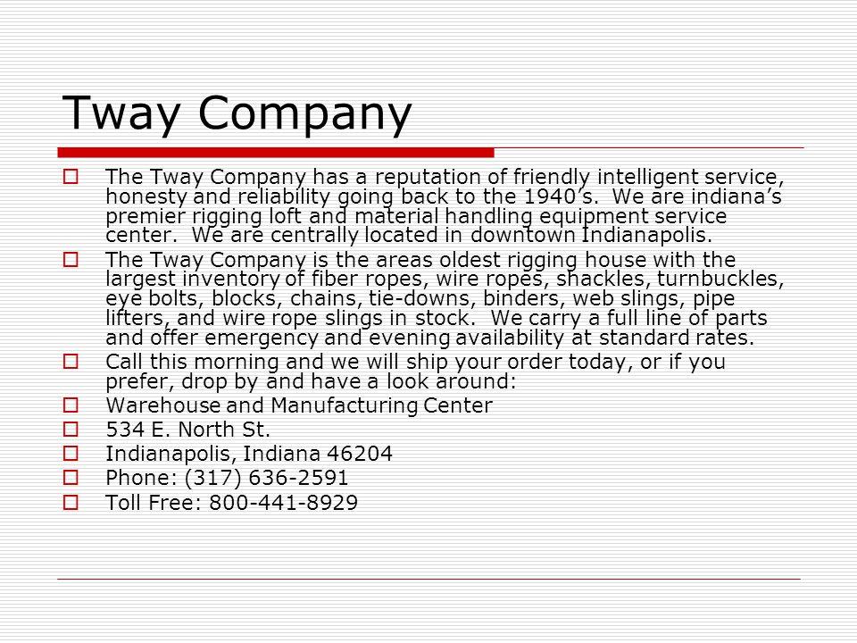 Tway Company