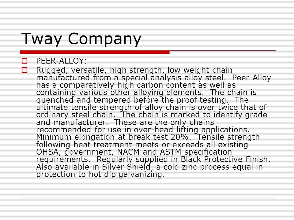 Tway Company PEER-ALLOY:
