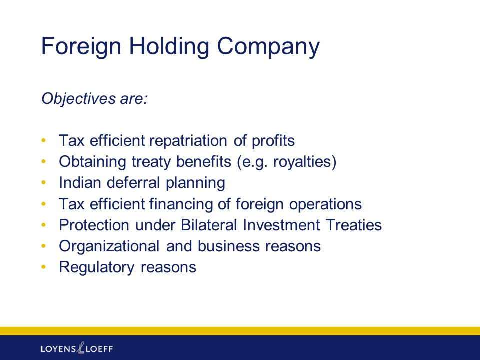 Foreign Holding Company