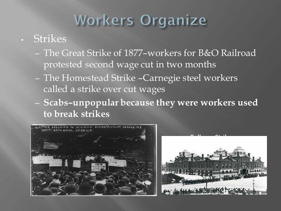 Workers Organize Strikes