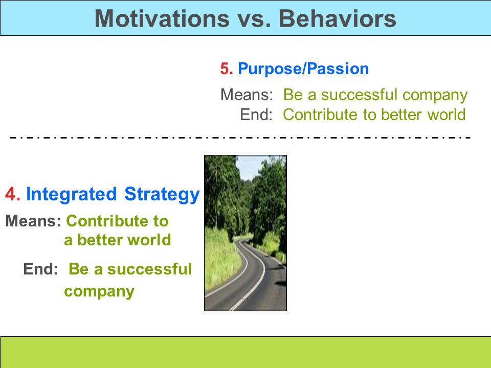 Motivations vs. Behaviors