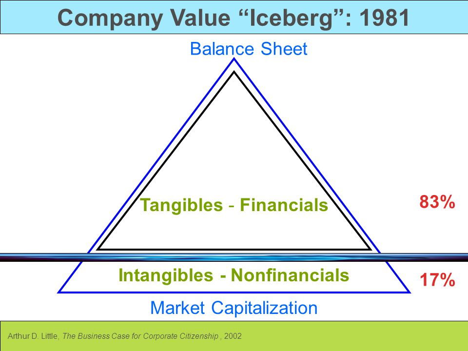 Company Value Iceberg : 1981 Intangibles - Nonfinancials