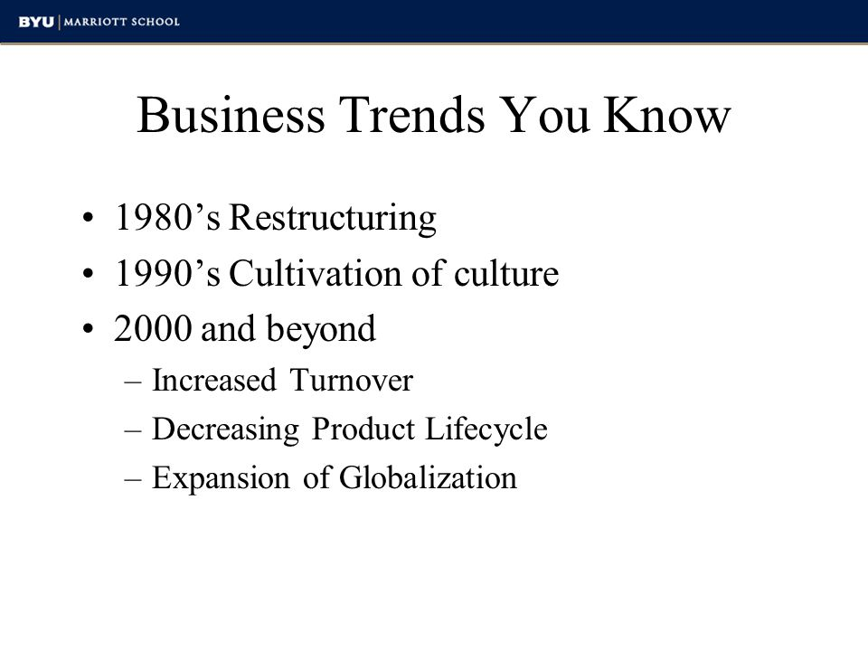 Business Trends You Know
