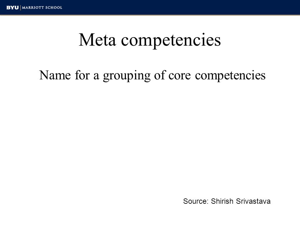 Name for a grouping of core competencies