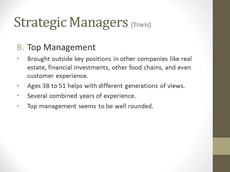 Strategic Managers (Travis)