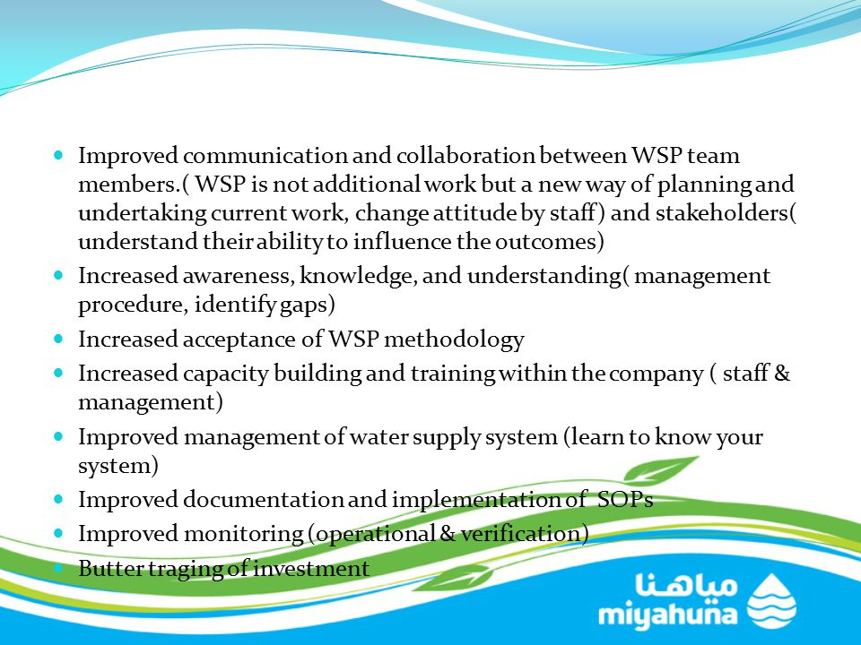 Improved communication and collaboration between WSP team members