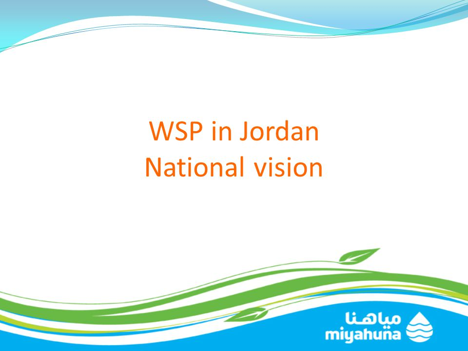 WSP in Jordan National vision
