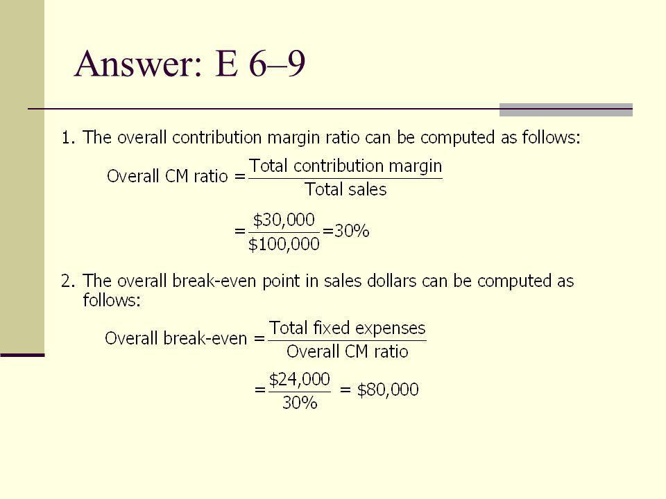 Answer: E 6–9