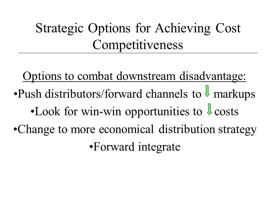 Strategic Options for Achieving Cost Competitiveness