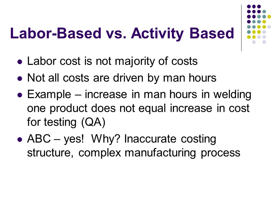 Labor-Based vs. Activity Based