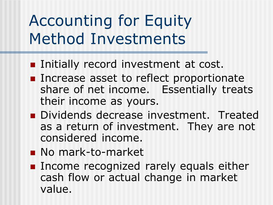 Accounting for Equity Method Investments
