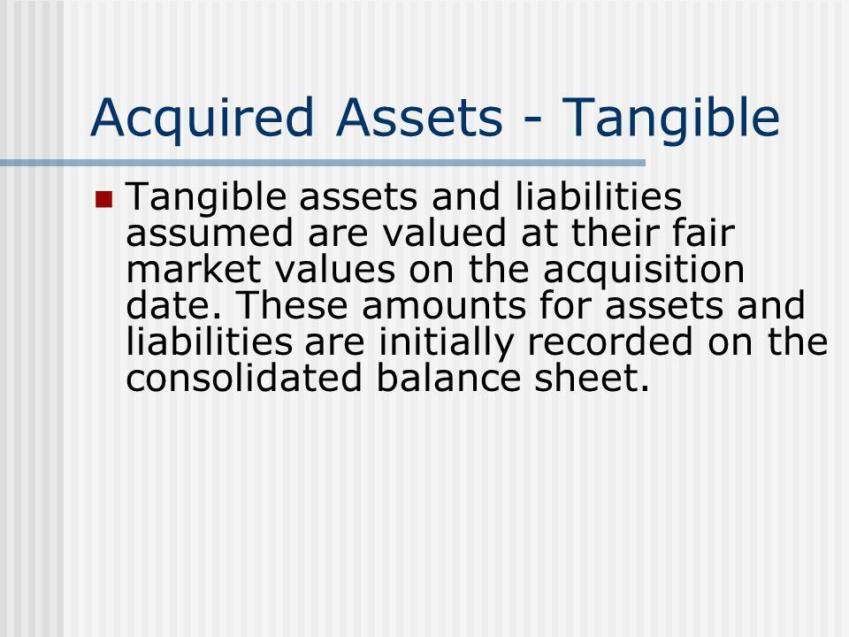 Acquired Assets - Tangible