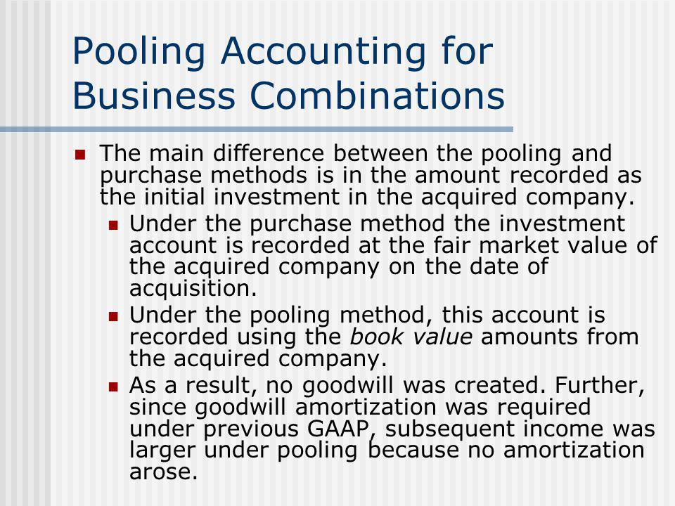Pooling Accounting for Business Combinations