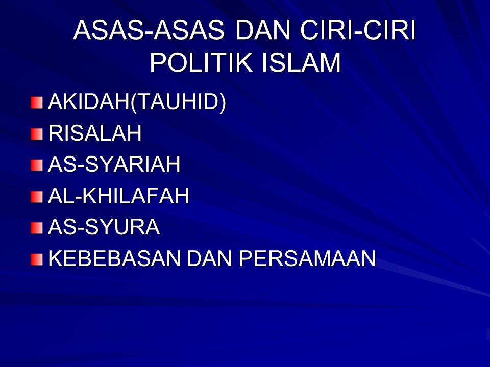 ASAS-ASAS DAN CIRI-CIRI POLITIK ISLAM