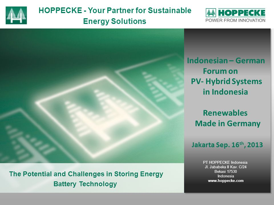 Indonesian – German Forum on PV- Hybrid Systems in Indonesia