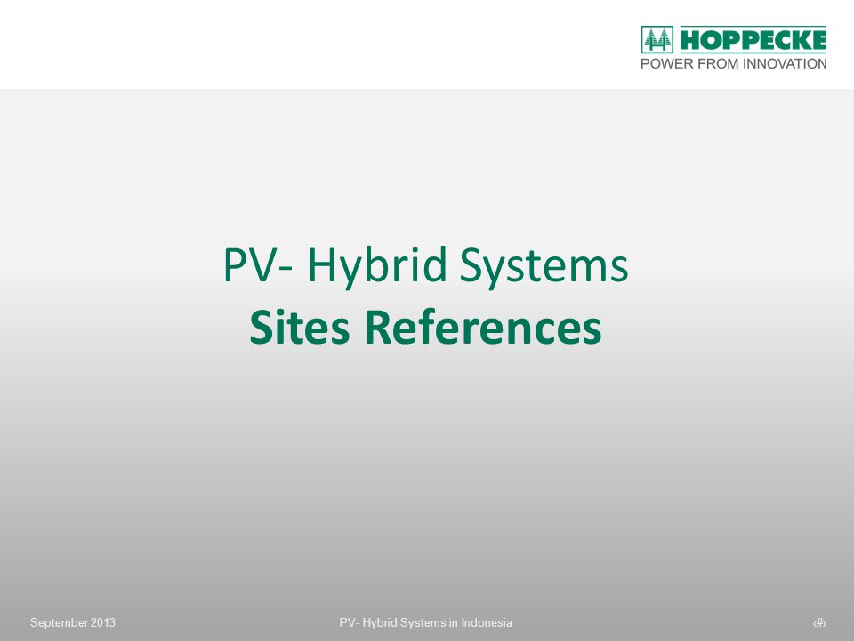 PV- Hybrid Systems Sites References