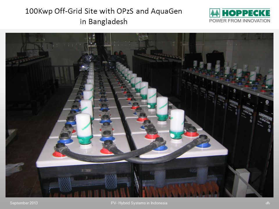 100Kwp Off-Grid Site with OPzS and AquaGen in Bangladesh